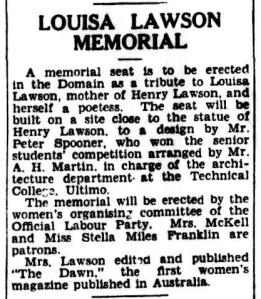 """The Dawn"", Louisa Lawson & Australian Female Suffrage"