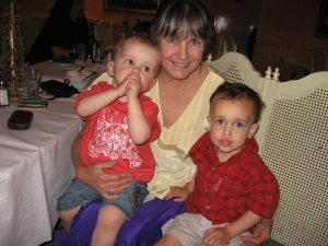 Here I am with my two youngest chickadees - Nov 2006