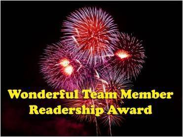 Award. Wonderful Team Member Readership Award