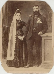 Emil Wilhelm HABEL and Maria Mathilda GROSSER on their wedding day.