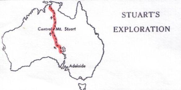 John Mc Douall Stuart-map