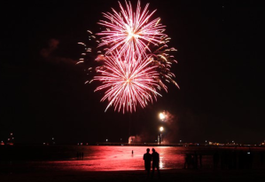 Seeing in the New Year - 2013, on the Semaphore foreshore.