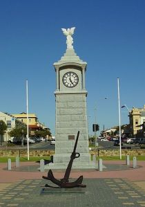 Semaphore, South Australia  - War Memorial clock. Wikipedia.