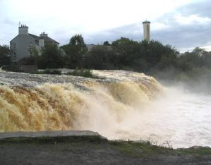 Ennistymon Waterfall, County Clare. Source: Wikipedia