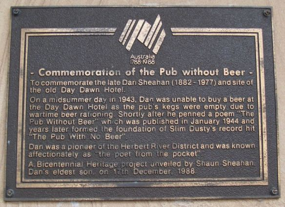 pubwithnobeer. commemoration plaque