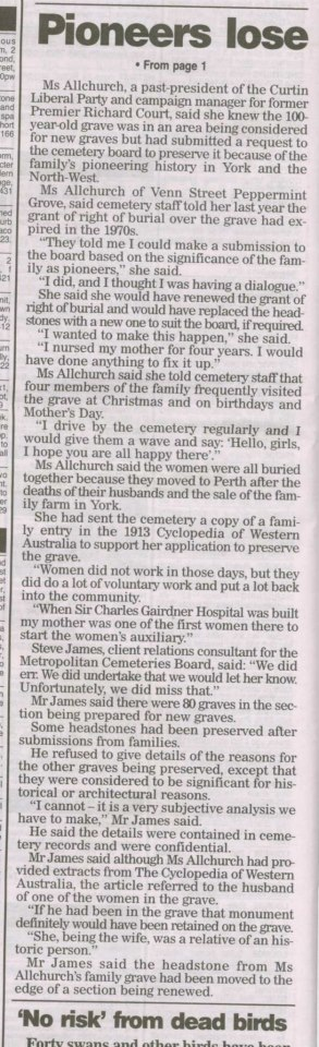 Cemetery desecration. Karakatta WA.2.