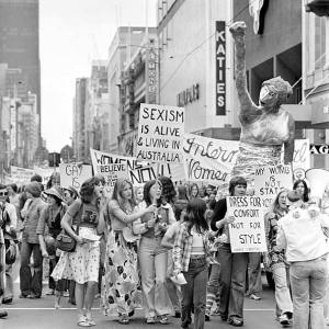 Protest March in Melbourne - International Women's Year, 1975