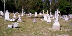 Lonely gravesites