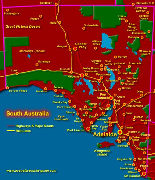 map-south-australia