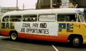 Women's Year. 1975. equal pay. opportunities