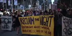 Women's Year. 1975. reclaim the night