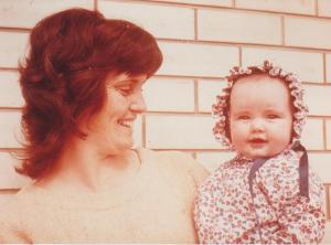 Kirrily and mummy -  Sep 1972