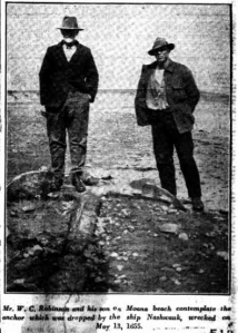 Nashwauk Anchor. laying on beach. The Mail. 27Aug1927. page1