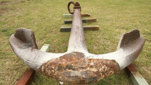 Nashwauk Anchor before restoration