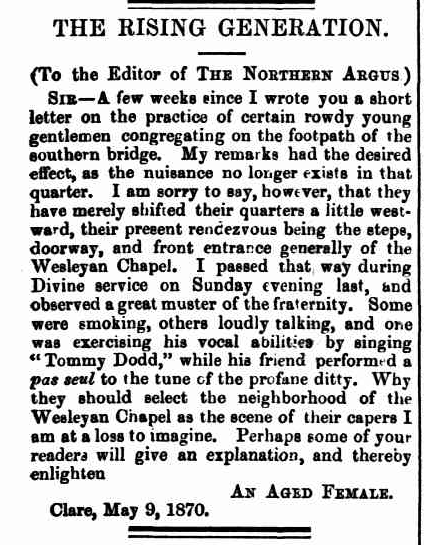 TROVE. Northern Argus 13May1870p.3