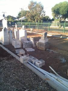 The destruction and desecration of graves in progress