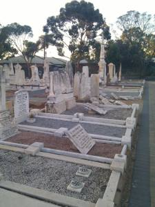 Beautiful gravesites destined for & awaiting demolition