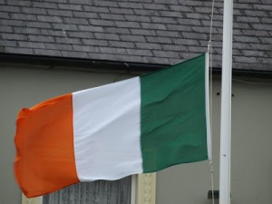 "Irish Flag raised in Kilrush for the ""Famine"" Commemoration 2013"