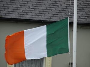 """Irish Flag raised in Kilrush for the """"Famine"""" Commemoration 2013"""