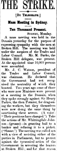 TROVE. The strike. 19Sep1892