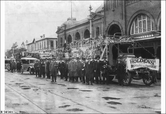 Holden's Float in South Australia's 8 hour day Parade - 1925 - Source: SLSA  B56561