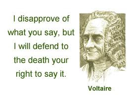 Freedom of Speech. Voltaire
