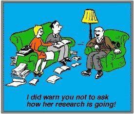 Cartoon Genealogy Research.