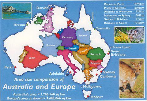 How big Australia is.