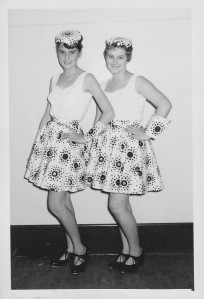 Catherine Crout-Habel and Margaret Jordan at approx. 14 or 15, circa 1960