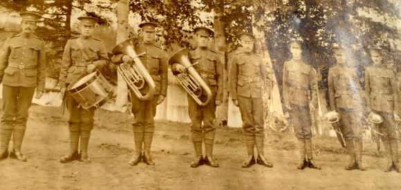 Bandmaster Harry Eden Crout (far left) circa 1919